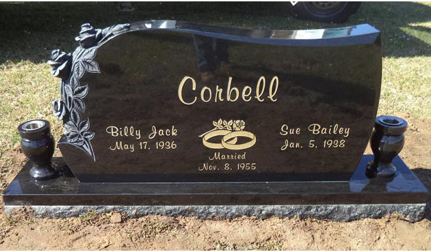 Black Granite Headstones