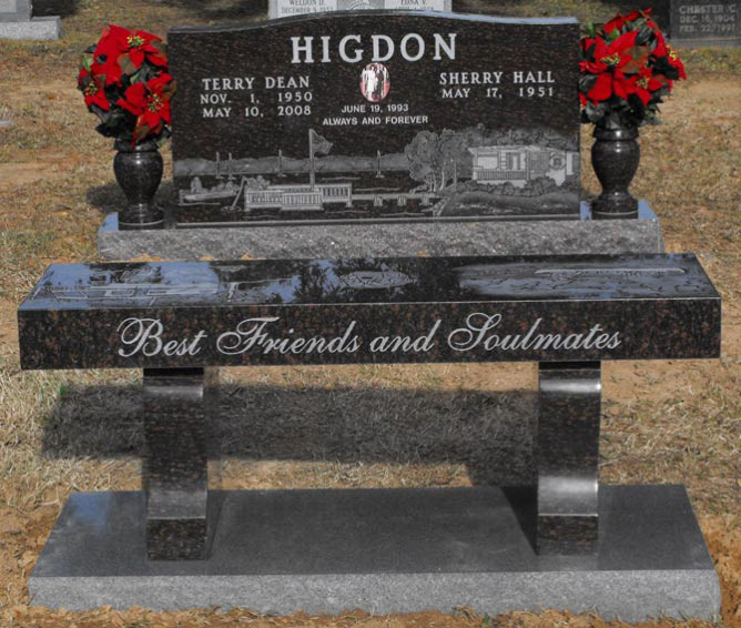Memorial Stone Benches